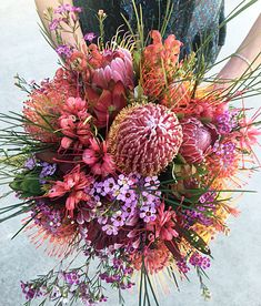 Field Bouquet - Banksia, grevillea, waxflower, pincushions and leucadendron.