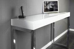 white gloss console table - Google Search