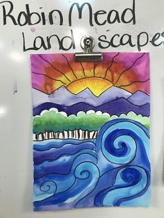 grade Robin Mead Landscapes Elements of the Art Room: grade Robin Mead Landscapes Spring Art Projects, School Art Projects, Art Activities For Kids, Art For Kids, Art Lessons For Kids, Artists For Kids, Fun Craft, Art And Craft Videos, 5th Grade Art