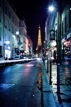 Rain in Paris, France
