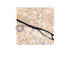 """""""Paris city map.  (sundowner stratus) """" Digital Art von planimetrica jetzt als Poster, Kunstdruck oder Grußkarte kaufen.."""
