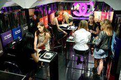 Chanel nail bar at the GTG party - Manicures and nail art by GTG experts Sophy Robson and Marian Newman
