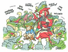 Not the musical band | Link and Sidon 'disguised' as Lizalfos | Legend of Zelda Breath of the Wild