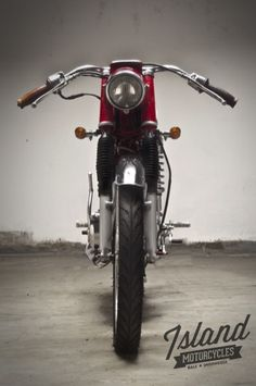 Honda 1969 Cafe Racer by Island Motorcycles Vintage Honda Motorcycles, Custom Motorcycles, Custom Bikes, Honda S90, Bike Builder, Classy Cars, Vintage Bikes, Motorbikes, Cafe Racers