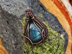 Wire Wrapped Jewelry, Wire Wrap Necklace, Labradorite Pendant, Wire Wrapped, Healing Crystals & Stones, Copper Wire Wrap, Crystal Destinies by CrystalDestinies on Etsy