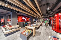 Puma store by Plajer & Franz Studio, London  A low level display works nicely, but reduces space