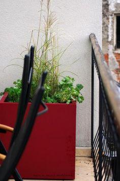 Červený květináč Plants, Plant, Planets