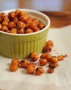 Pan Fried Chick Peas are a great lunch box snack