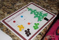 M Christmas tree math