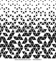 Modern stylish texture of the triangles and hexagons. Repeating geometric pattern tiles. White and black texture, background.