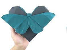 How to Make Origami Origami Butterfly Easy, Origami Love, Fabric Origami, How To Make Origami, Origami Easy, Origami Paper, Heart Origami, Oragami, Origami Insects