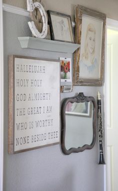 LOVE the framed lyrics of The Great I Am.