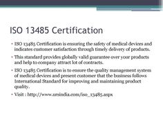 #Iso13485 certification recognized by UKAS in india