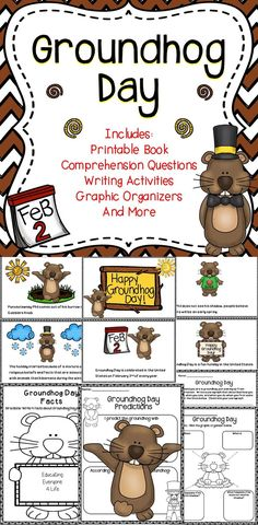 Groundhog Day Classroom Ideas - Students will have fun and be engaged while learning all about Groundhog Day with this no-prep supplemental activity pack.
