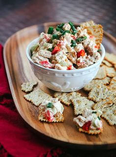 Buffalo Blue Cheese Chicken Salad Dip - Some the Wiser