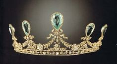 Tiara Owned by Grand Duchess Elizabeth Feodorvna of Russia. Sold by Princess Dorothea of Hesse in Creator Fabergé (Possible) - Stones Aquamarine, Diamond - Source Order of Splendor Royal Crown Jewels, Royal Crowns, Royal Tiaras, Royal Jewelry, Tiaras And Crowns, Corona Real, Antique Jewelry, Vintage Jewelry, Family Jewels