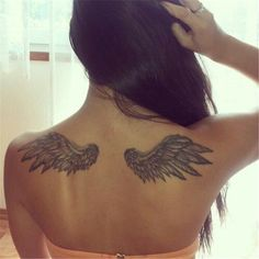 Gorgeous Back Tattoo Designs That Will Make You Look Stunning; Back Tattoos; Tattoos On The Back; Back tattoos of a woman; Little prince tattoos; Angle Wing Tattoos, Angle Tattoo, Wing Tattoos On Back, Back Tattoo Women, Tattoos For Women, Fairy Wing Tattoos, Band Tattoos, Ribbon Tattoos, Neue Tattoos