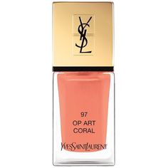 Yves Saint Laurent La Laque Couture Spring Look Nail Lacquer ($28) ❤ liked on Polyvore featuring beauty products, nail care, nail polish, yves saint-laurent nail polish and yves saint laurent