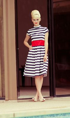 94b8d78d3c love this stripe dress. Navy And White Dress