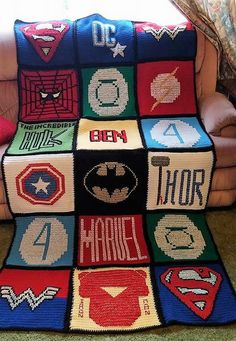 Everyone can easily judge than this idea is for boys because it is crocheted keeping in mind the boys cartoon theme, you can see the Spiderman, superman and Ben 10 crocheted on the blanket. This idea will be loved by a kid who is crazy for the cartoons, so it can be copied to make the son happy.