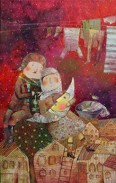 Brushstrokes in the world: Anna Silivonchik illustrations: winter cold