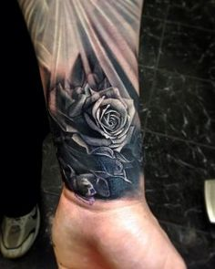Realistic Red Roses Half Sleeve Tattoo - Andrey Barkov Grimmy | The Best Flower Tattoos