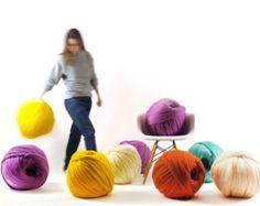 DIY Blanket 32x48 . Merino wool. Hand-spun yarn. Super by Ohhio