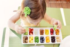 Healthy Snacks and Food Ideas for Toddlers - Toddler Ice Cube Tray Buffet - Honey + Lime