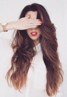13 Tips for Your Date Night Beauty Routine Messy Hairstyles, Pretty Hairstyles, Unique Hairstyles, Hairstyle Ideas, Hair Day, New Hair, Girl Hair, Ombre Highlights, Caramel Highlights