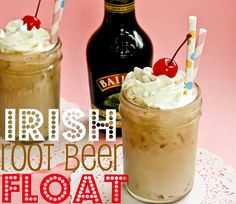 Irish Root Beer Float. I need one of these right about now!