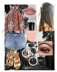 """""""Beach🌊"""" by wiestac on Polyvore featuring J Brand, Lime Crime, Deborah Lippmann, Nordstrom and H&M"""