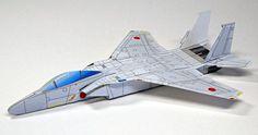 printable paper F-15 airplane model - really flies