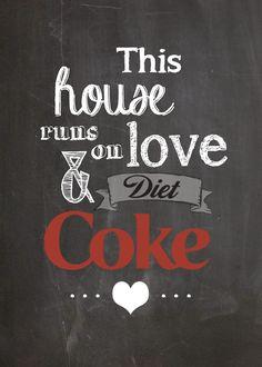 Free Diet Coke Printable @moxiethrift on etsy Gravis Dickmann @Breanne Bolton Bolton Carrigan