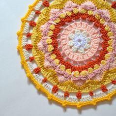 Sun Mandala Crochet Free Pattern