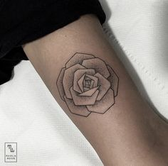Geometric Rose by Marla Moon