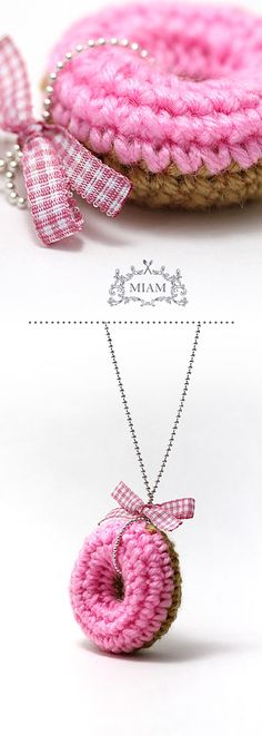 Crochet donuts - necklace idea - Miam Paris #pink