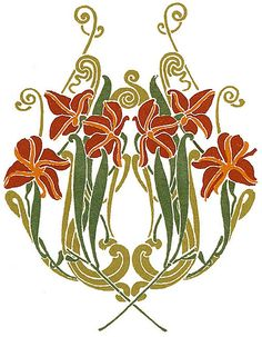 Art Nouveau Design Motifs   Full-Color Art Nouveau Designs and Motifs 4   Flickr - Photo Sharing!