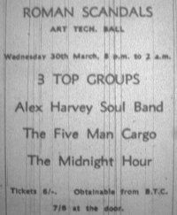 1966 Concert flyer @ nearby Bradford, including The 5 Man Cargo Concert Flyer, My Cousin, Bradford, Leeds, Scandal, 1960s, Music, Musica, Musik