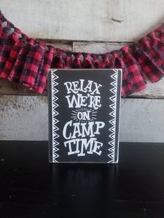 CAMPING Mini Sign, Adventure Series Mini Signs, Tiered Tray Decor, Shelf Decor Patriotic Decorations, Halloween Decorations, Fabric Garland, Hudson River, Tray Decor, Best Friend Gifts, Hostess Gifts, Fourth Of July, Fall Decor