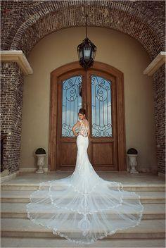 the new galia lahav fiona wedding gown #galialahav #sheathweddinggown #amazingtrain http://www.weddingchicks.com/2013/11/04/galia-lahav-wedding-dress/