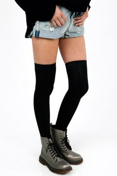 Sky Thigh High Socks $11 at www.tobi.com