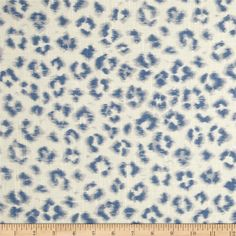 Jaclyn Smith Animal Print Blend Denim from @fabricdotcom  Screen printed on a linen/rayon blend this medium/heavyweight fabric is very versatile and perfect for window treatments (draperies, valances, curtains, and swags), pillow shams, duvet covers, toss pillows and upholstery. Colors include blue, light grey and white.
