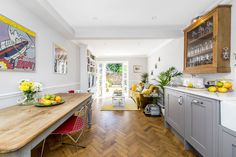 Stylish London flat conversion from a one bed to a two bed property One Bedroom Flat, Rock My Style, Interior Design Process, Buying Your First Home, Parquet Flooring, Floors, Open Kitchen, Kitchen Units, Kitchen Redo