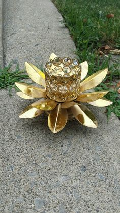 Lotus crystal tealight holder. Available for $20 each plus shipping. Can be used as a centrepiece or cake table and entrance table decor . Entrance Table Decor, Table Decorations, Ethnic Home Decor, Cake Table, Tea Light Holder, Tea Lights, Lotus, Centerpieces, Bling