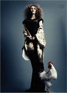 """East of Eden"" | Model: Vanessa Paradis, Photographer: Natalia Alaverdian, Harper's Bazaar Russia, April 2013"