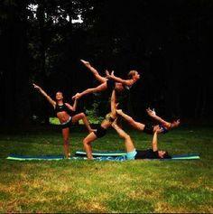23 best 3 person stunts images  partner yoga stunts