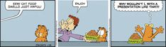Garfield by Jim Davis for Tue 28 Jan 2020 Garfield Comics, Garfield And Odie, Jim Davis, Fat Cats, Hilarious, Funny, Just For Laughs, Comic Strips, Comic Books