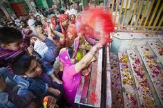 Celebrates Holi  Photo and caption by NG HOCK HOW    Holi is a religious spring festival celebrated by Hindus. Holi is also known as Festival of Colours. It is celebrated by people throwing scented powder.