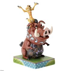"""4054281 Carefree Cohorts (Timon and Pumbaa)- Timon and Pumbaa are a pair of """"Carefree Cohorts"""" in this uplifting scene from the Disney classic The Lion King #Disney #ensco #LionKing"""