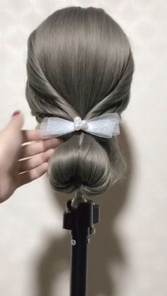 Hairstyle Tutorial 793 Soft, shiny, silky and well-groomed hair is our dream. However, due to our research for hair care, which is the main sub. Easy Hairstyles For Long Hair, Pretty Hairstyles, Braided Hairstyles, Hairstyle Ideas, Bob Hairstyle, Wedding Hairstyles, Hair Upstyles, Long Dark Hair, Hair Color Purple
